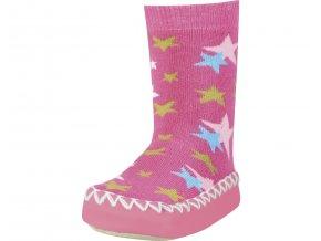 Protiskluzové capáčky Hvězdy - růžové, Playshoes