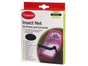 CLIPPASAFE Síť proti hmyzu na kočárek, Black
