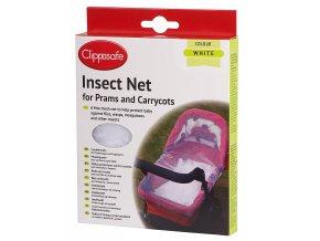 CLIPPASAFE Síť proti hmyzu na kočárek, White