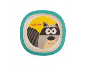 ZOPA Bambusový talířek, Raccoon