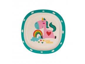 ZOPA Bambusový talířek, Unicorn