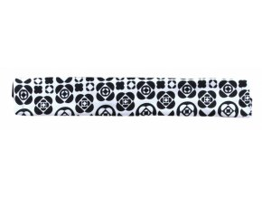 Emitex Potah na madlo kočárku - kytky černé