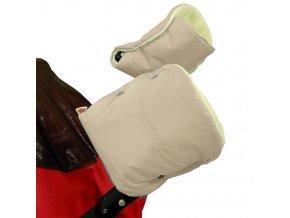 Emitex Rukávník ke kočárku/rukavice béžový + žlutý