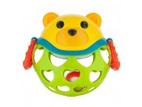 Canpol babies Interaktivní hračka míček s chrastítkem Zelený medvídek Canpol 79/101_GRE