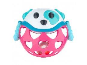 Canpol babies Interaktivní hračka míček s chrastítkem Růžový pes Canpol 79/101_PIN