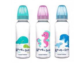 Canpol babies Láhev s potiskem LOVE&SEA 250 ml  Canpol 59/400