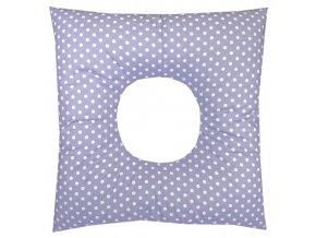 Babyrenka poporodní polštář 45x45 cm kuličky EPS Puntík lila