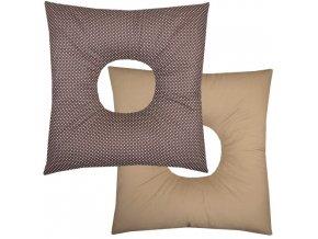 Babyrenka poporodní polštář 45x45 cm kuličky EPS Dots brown