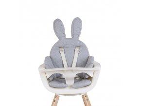 Childhome Sedací podložka do dětské židličky Rabbit Jersey Grey