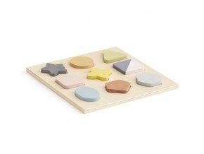 Kids Concept Puzzle dřevěné geometrické tvary