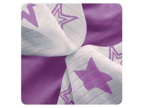 Kikko Bambusové ubrousky XKKO BMB 30x30 - Lilac Stars MIX