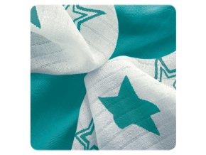 Kikko Bambusové ubrousky XKKO BMB 30x30 - Turquoise Stars MIX