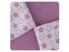 Kikko Bambusové ubrousky XKKO BMB 30x30 - Little Stars Lilac MIX