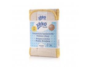 Kikko Vkládací pleny XKKO Organic Old Times - Natural Velikost S (2ks)