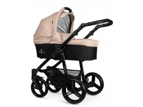 venicci soft cream carrycot black frame