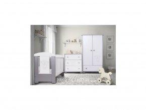 dětský pokoj Drewex Malý medvídek a motýlek šedý