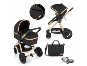 Kočárek kombinovaný 2v1 Grand II Golden Ebony Petite&Mars 2020