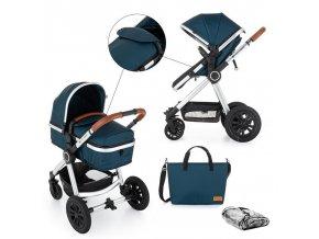 Kočárek kombinovaný 2v1 Grand II Platinum Indigo Petite&Mars 2020