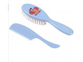 BabyOno Kartáček a hřeben na vlasy super jemný - modrá 568