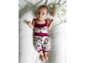 2-dílná letní bavlněná souprava New Baby Little Girl Velikost: 56 (0-3m)