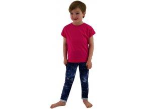 ESITO Dětské tričko jednobarevné vel. 86 - 92 - 92 / malinová ESOBLTRIJBA