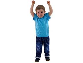 ESITO Dětské tričko jednobarevné vel. 86 - 92 - 86 / tyrkysová ESOBLTRIJBA