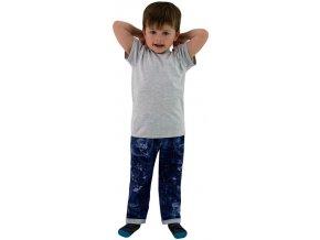 ESITO Dětské tričko jednobarevné vel. 86 - 92 - 92 / melír šedý ESOBLTRIJBA