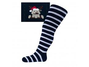 Vánoční bavlněné punčocháčky New Baby modré se slonem Velikost: 68 (4-6m)