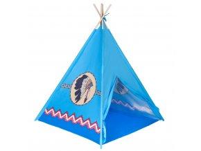 Dětský indiánský stan teepee PlayTo modrý