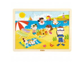 Dětské dřevěné puzzle Viga Léto