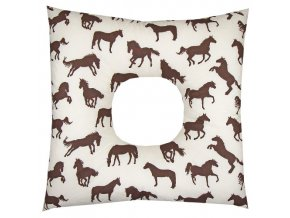 Babyrenka poporodní polštář 45x45 cm kuličky EPS Koně