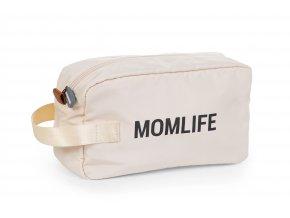 Childhome Toaletní taška Momlife Off White Black