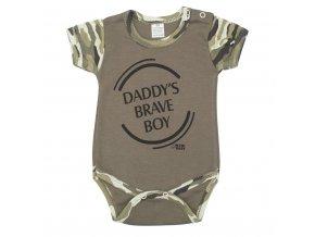 Kojenecké body s krátkým rukávem New Baby Army boy vel.74