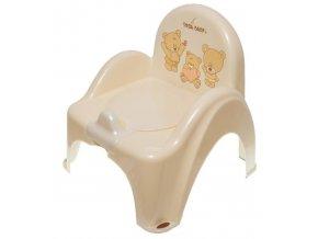 nočník hrající záchodek Tega Baby Medvídek (varianta tm. béžová)