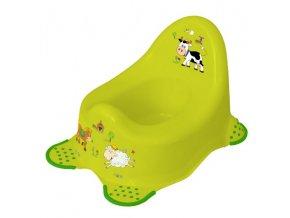 Nočník Prima Baby Funny Farm protiskluzový (varianta pomerančový)