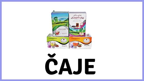 Rôzne druhy čajov z Iránu