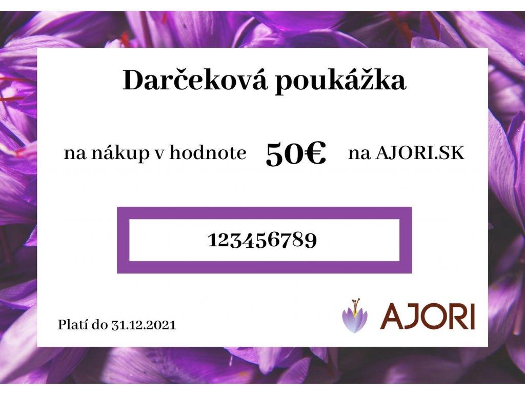 Darčekový poukaz na 50 eur