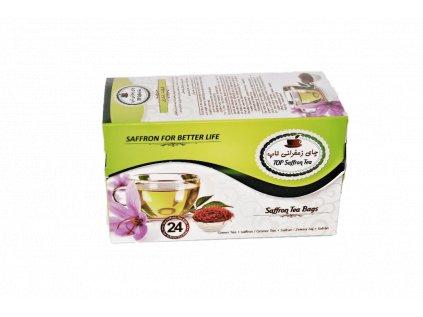 Zelený šafranový čaj
