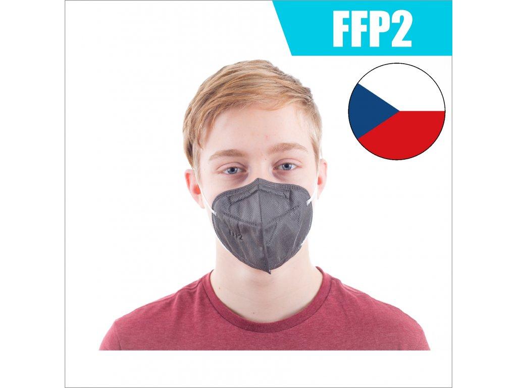 FFP2 CZ SVĚTLE ČERNÝ