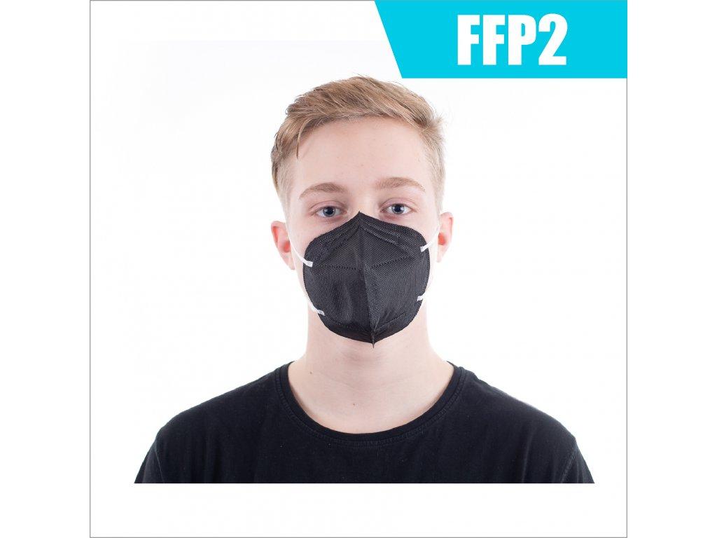 FFP2 ASIA ČERNÝ
