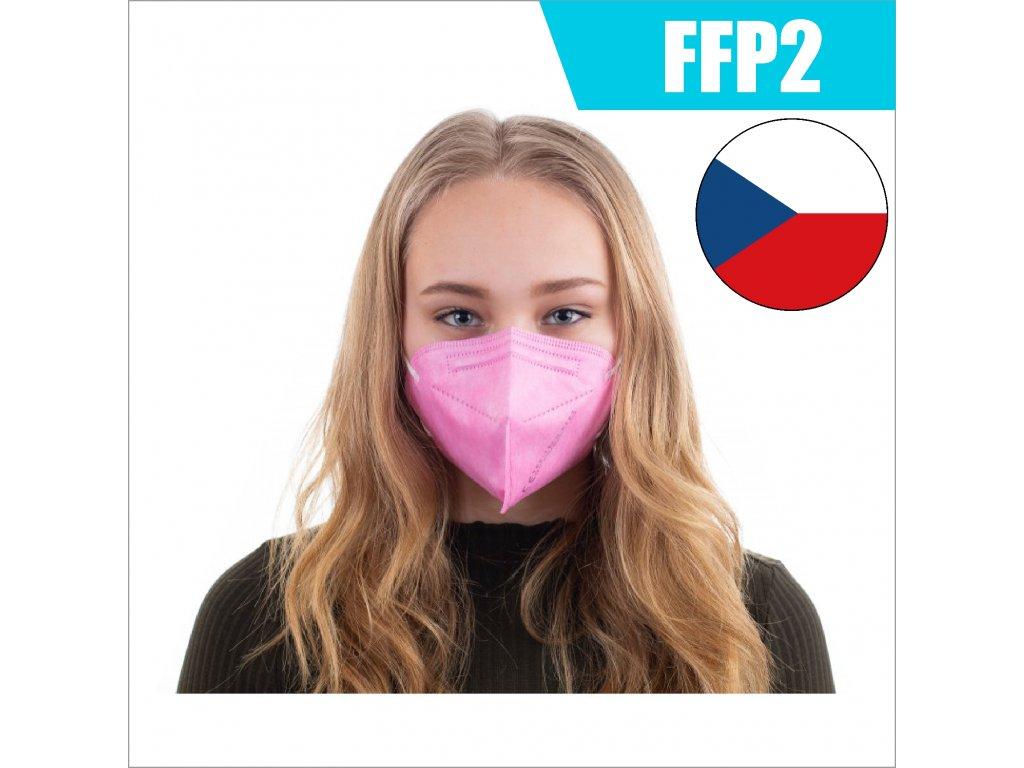 FFP2 CZ RŮŽOVÁ