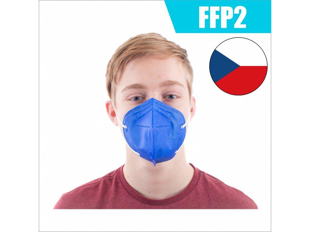 FFP2 CZ SVĚTLE MODRÝ