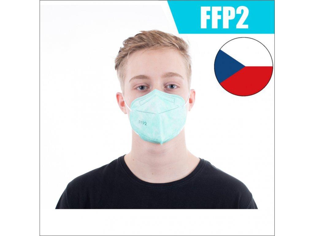 respirator ffp2 zeleny