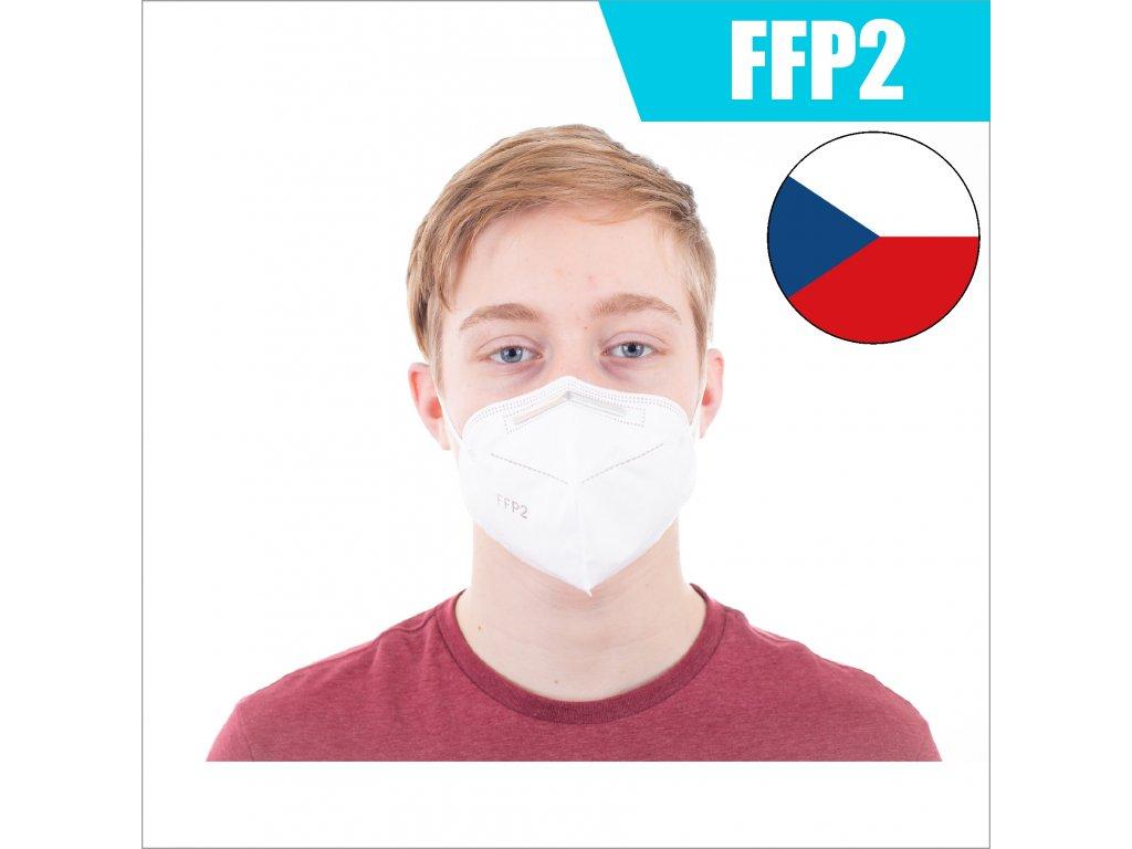 FFP2 CZ BÍLÝ