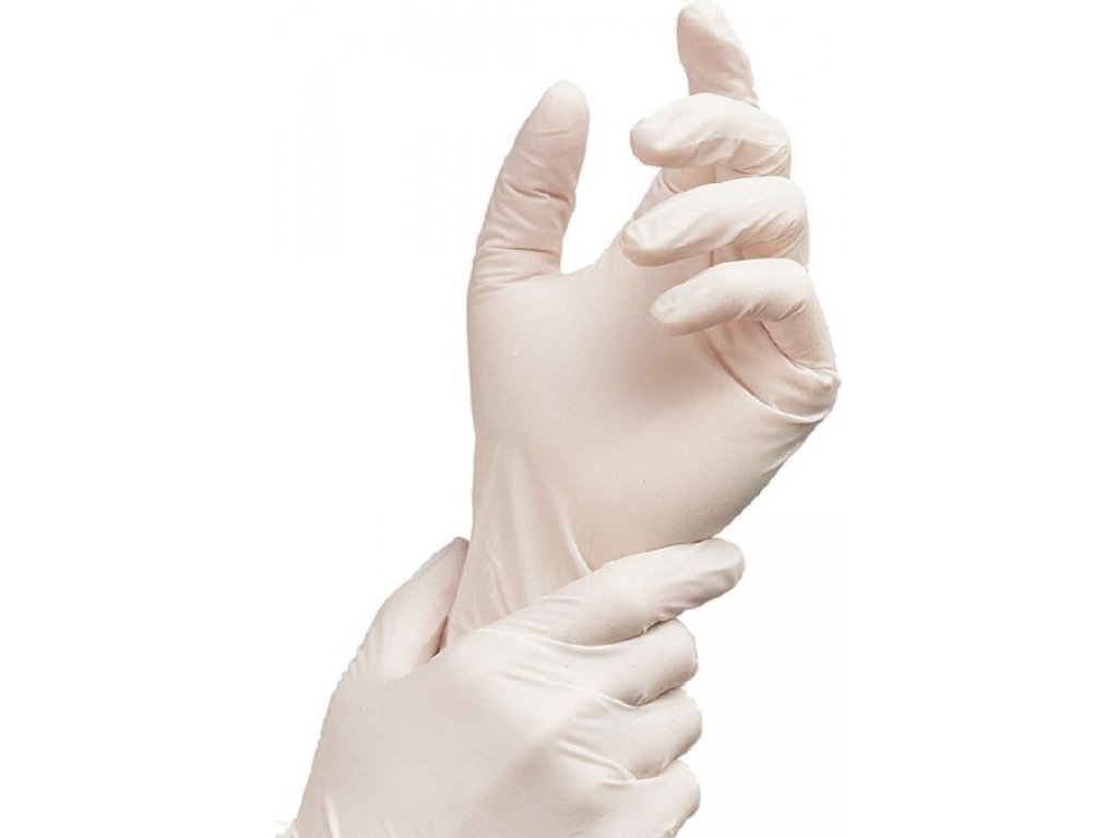 jednorazove rukavice latexove transparentni 100 ks