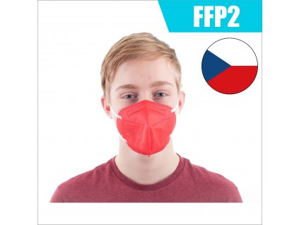 FFP2 CZ CERVENY