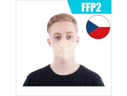 FFP2 CZ BÉŽOVÁ