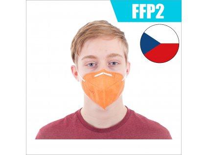 FFP2 CZ ORANŽOVÝ