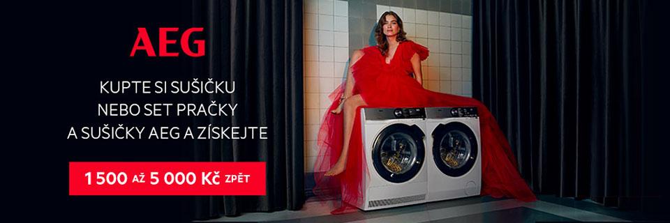 Kupte si sušičku, pračku kombinovanou se sušičkou nebo set pračky a sušičky AEG a získejte až 5 000 Kč zpět!