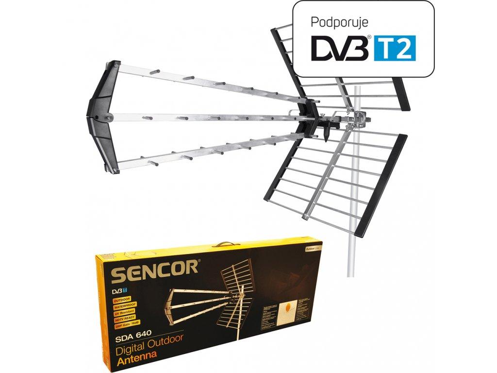SDA 640 4G DVB T2 ANTÉNA VENKOVNÍ SENCOR